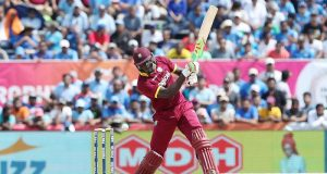 Carlos Brathwaite of the West Indies during the 1st international T20 Trophy match between India and the West Indies held at the Central Broward Stadium in Fort Lauderdale, Florida, United States of America on the 27th August 2016  Photo by:  Ron Gaunt/ BCCI/ SPORTZPICS