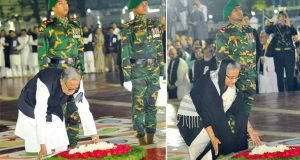 President, PM pay homage; Khaleda leads BNP delegation