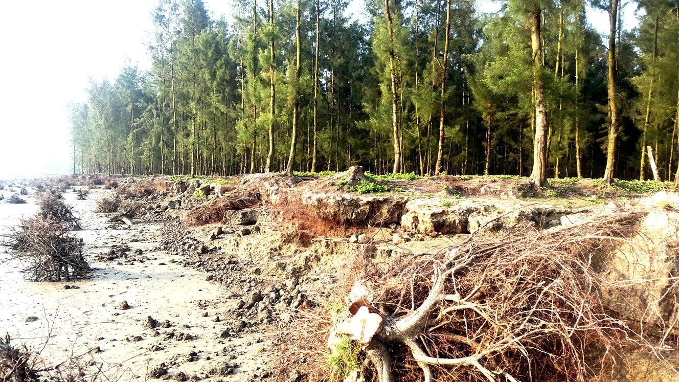 নদীভাঙনে বদলে যাচ্ছে নোয়াখালী