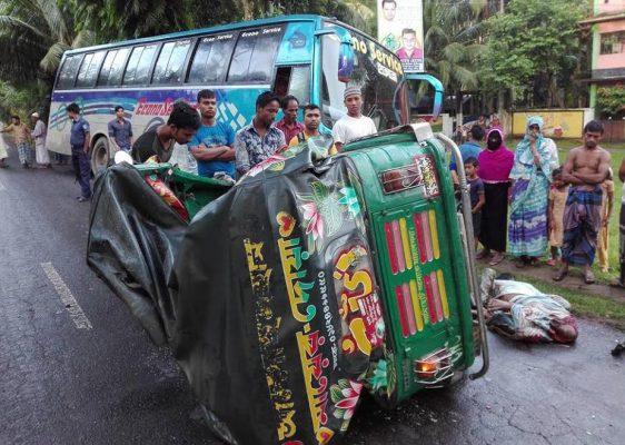 রায়পুরে বাস-অটোরিকশার মুখোমুখি সংঘর্ষে চালক নিহত