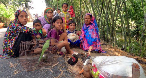 বাংলাদেশে আশ্রয় নিয়েছে শত শত ভারতীয় বন্যার্ত লোকজন