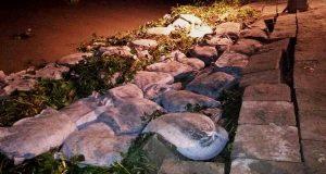 কমলনগর মেঘনা নদীর তীর রক্ষা বাঁধে আবারও ধস