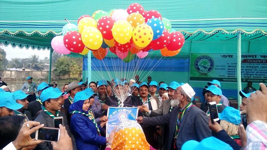 শরীয়তপুরে ৩য় জেলা কাব ক্যাম্পুরী উদ্বোধন