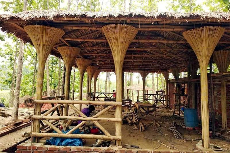 পাহাড়ি উপকরণেই নির্মিত হচ্ছে 'শৈলকুঠির রিসোর্ট'