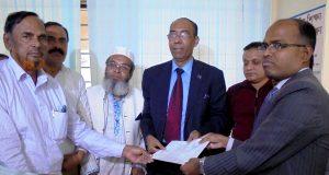 নাজিম উদ্দিন আলমের মনোনয়ন দাখিল