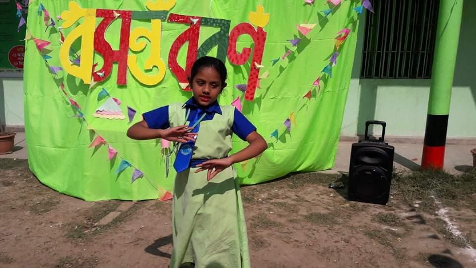 বসন্তকে বরণ করলো গ্রীন টাচ্ স্কুল এন্ড কলেজ